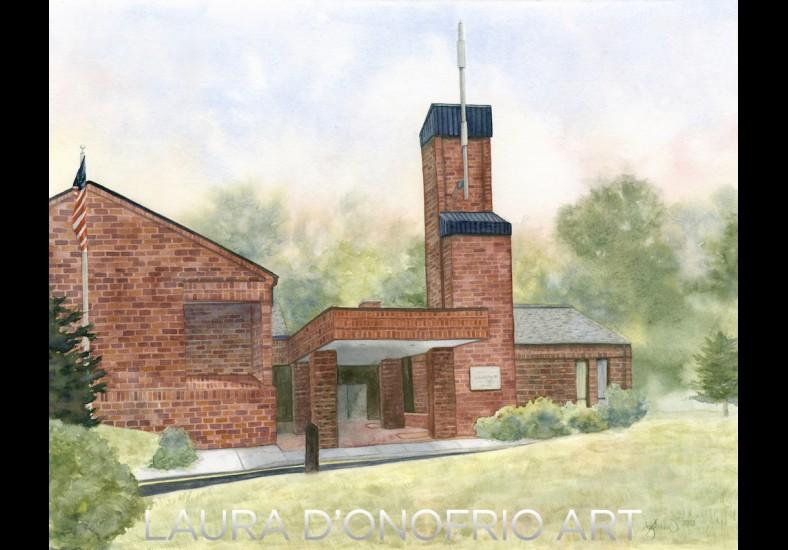 New Canaan LDS Chapel / A Watercolor Brick Tutorial